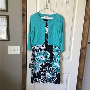 NWT Dress Barn sleeveless dress with shrug